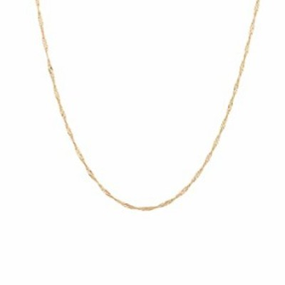 Gold Chain Choker Necklace,14K Gold Plated Dainty Boho Delicate Wave Chain Minimalist Simple Choker Necklace for Women and Girls