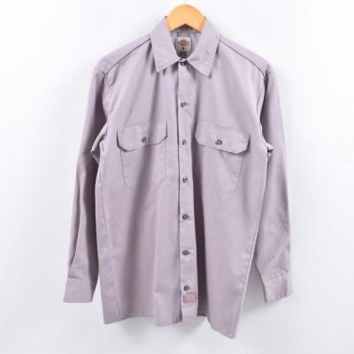 ディッキーズ Dickies 長袖 ワークシャツ メンズS /eaa005178