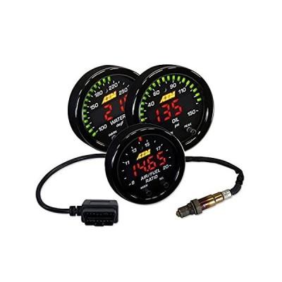 送料無料 AEM Xシリーズ 52mm ワイドバンド UEGO A/F比率 OBDIIゲージセット + 水温 + 油圧。
