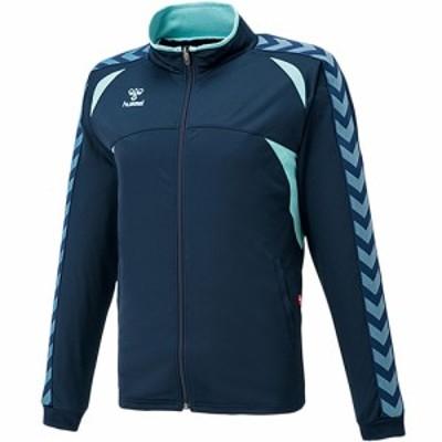 ヒュンメル(hummel) ウォームアップジャケット ネイビー×ラディエンスブルー HAT2066 【トレーニングウェア ジャージ メンズ サッカー