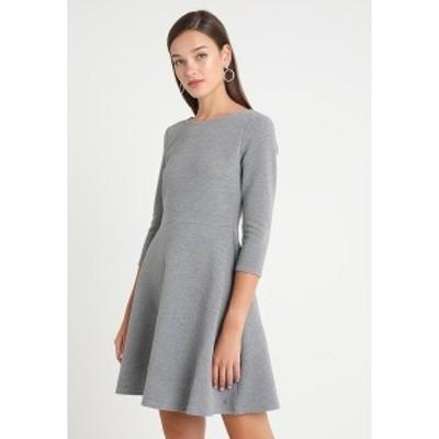 トムテイラーデニム レディース ワンピース トップス SKATER DRESS ROUND - Jersey dress - middle grey melange middle grey melange