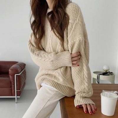 ENVYLOOK レディース ニット/セーター Berried Twisted Fit Twist Knitwear