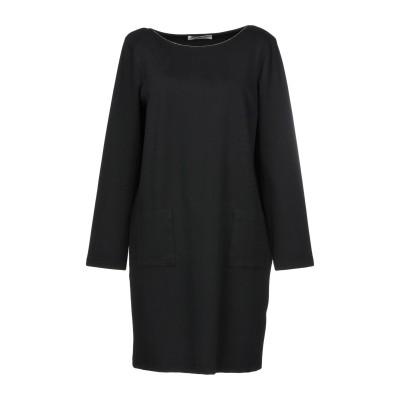 LA FILERIA ミニワンピース&ドレス ブラック 42 コットン 94% / ポリウレタン 6% ミニワンピース&ドレス