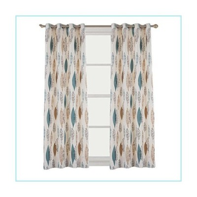 新品Cherry Home Rustic Curtains with Floral Leaves Blossom Room Darkening Blocking Light Lined Curtains Panel Drapes Bedroom Grommet Top,1