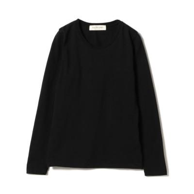 【ビームス ウィメン】 Ray BEAMS / コットン 天竺 クルーネック ロングスリーブ Tシャツ レディース ブラック ONESIZE BEAMS WOMEN