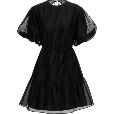 サー SIR レディース ワンピース ミニ丈 ワンピース・ドレス Amerie cotton and silk minidress Black