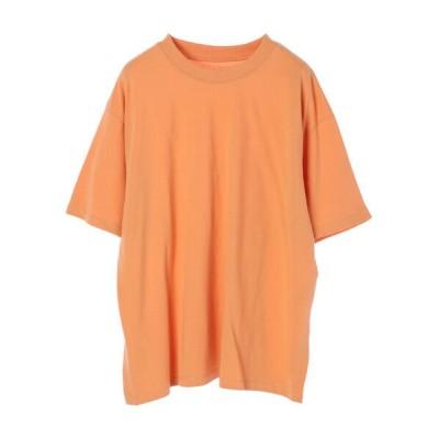 (Green Parks/グリーンパークス)コットン裾スリットプルオーバー/レディース オレンジ