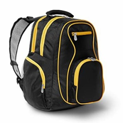 Colored Trim Premium Laptop Backpack, 19-inches, Yellow