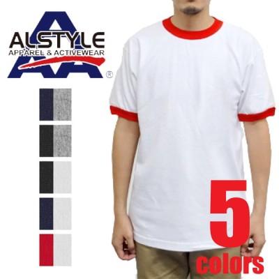 ASTY-T1309   6oz トリムTシャツ ALSTYLE 半袖 カジュアル ヘビーウェイト 在庫限り SALE