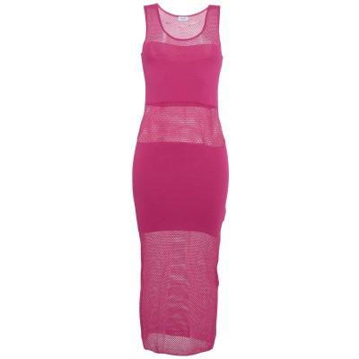 リュー ジョー LIU •JO 7分丈ワンピース・ドレス フューシャ S レーヨン 80% / ナイロン 20% 7分丈ワンピース・ドレス