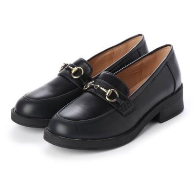 SFW サンエープラスフェミニン AAA+ feminine おじ靴'マニッシュビットローファー/3572 (ブラック)