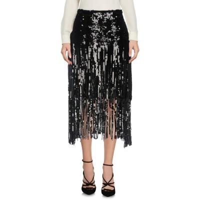 ロシャス ROCHAS 7分丈スカート ブラック 40 シルク 100% 7分丈スカート