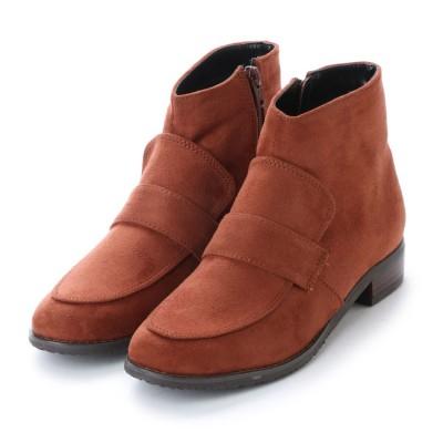 ヌーベルヴォーグ リラックス NOUBEL VOUG Relax ローファータイプおじ靴ショートブーツ (ブラウン)
