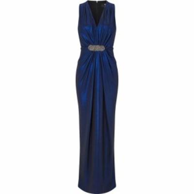 アリエラ ロンドン Ariella London レディース ワンピース マキシ丈 ワンピース・ドレス Ariella Clara Metallic Jersey Maxi Dress BLUE