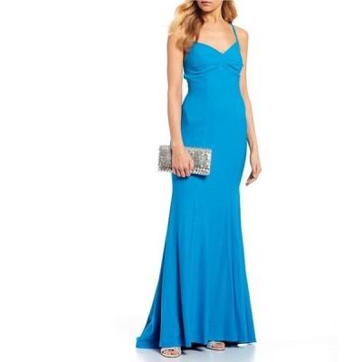 ジャンプ レディース ワンピース トップス Spaghetti Strap Trumpet Dress
