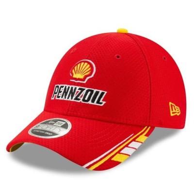 ユニセックス スポーツリーグ モータースポーツ Joey Logano New Era Shell/Pennzoil 9FORTY Snapback Adjustable Hat - Red - OSFA