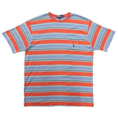 USA製 ポロラルフローレン マルチボーダー ポケットTシャツ サイズ表記:XL