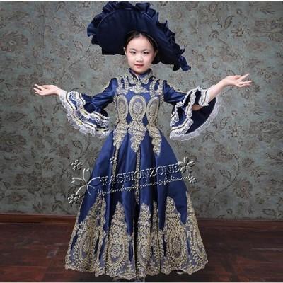 子供 ロングドレス ステージ衣装人気お姫様ドレス プリンセスライン   宮廷服  ティアラ プリンセスラインお姫様ドレス
