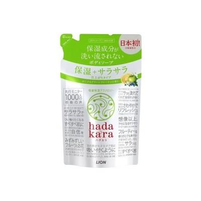 ハダカラ ボディソープ 保湿+サラサラ仕上がりタイプ グリーンシトラスの香り 詰替(340mL)/ ライオン