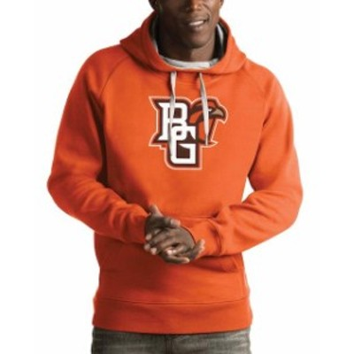 Antigua アンティグア スポーツ用品  Antigua Bowling Green St. Falcons Orange Victory Pullover Hoodie