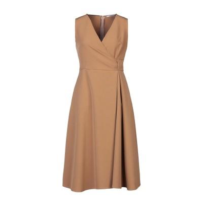 BIANCOGHIACCIO 7分丈ワンピース・ドレス サンド 44 ポリエステル 89% / ポリウレタン 11% 7分丈ワンピース・ドレス