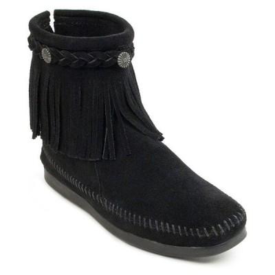 ミネトンカ ブーツ&レインブーツ シューズ レディース Hi Top Back Zip Narrow Boot Black