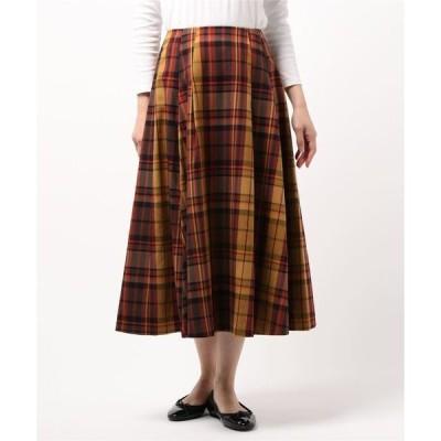 スカート チェックフレアースカート