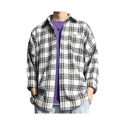 [ヴォンヴァーグ] チェックシャツ ネルシャツ 柔らかい 着心地 オーバーサイズ ルーズ 着こなし カジュアル マルチチェックシャツ 切替タック 肌触