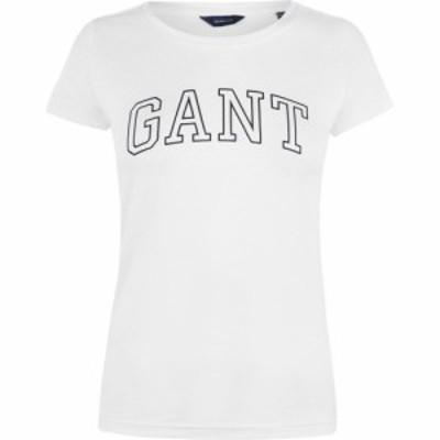 ガント Gant レディース Tシャツ ロゴTシャツ トップス Logo T Shirt Eggshell