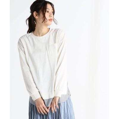 Honeys / 異素材使いTシャツ WOMEN トップス > Tシャツ/カットソー