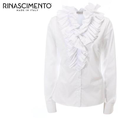 リナシメント Rinascimento フリルシャツ ブラウス レディース 長袖 ギャザー 17306-G