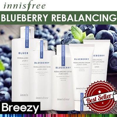 BREEZY★【イニスフリー】 [Innisfree] Blueberry Rebalancing Skin/ Lotion/ Cream / Sun Cream/ Cleansing Water/