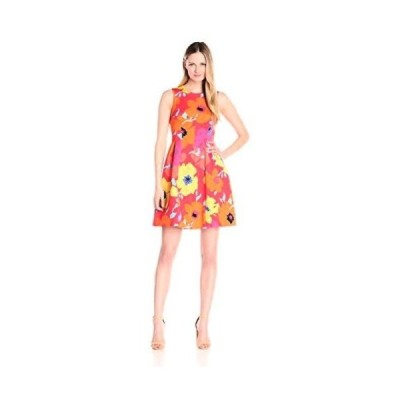 ドレス アンクライン Anne Klein レディース ドレス・ワンピース 10596258 プリントed Scuba Seamed Fit. Poppy Multi