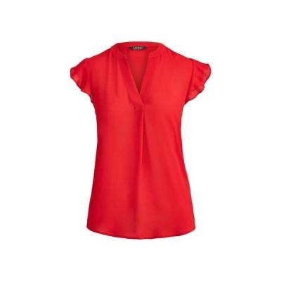 LAUREN RALPH LAUREN ブラウス  レディースファッション  トップス  シャツ、ブラウス  長袖 レッド