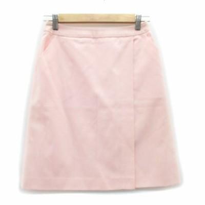 【中古】ミスクロエ miss chloe スカート 台形 フレア ひざ丈 ウール 40 ピンク /MS22 レディース