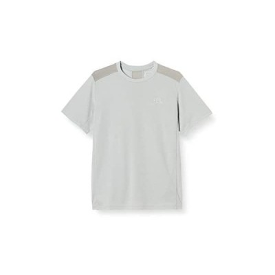 [エレッセ] Tシャツ ショートスリーブELドライシャツ メンズ 半袖 メッシュ UVカット 吸汗速乾 (ライトグレー XL)