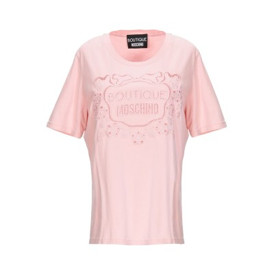 BOUTIQUE MOSCHINO T シャツ ピンク 48 コットン 100% T シャツ