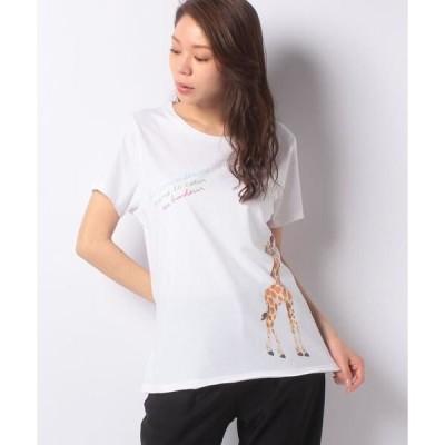 CARA O CRUZ / キャラ・オ・クルス キリンプリントTシャツ