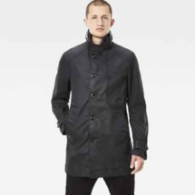 gstar ジースター ファッション 男性用ウェア ジャケット gstar garber-denim-trench-black-pintt-stretch-denim