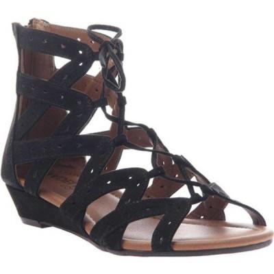 マデライン サンダル シューズ レディース Finesse Gladiator Sandal (Women's) Black Textile
