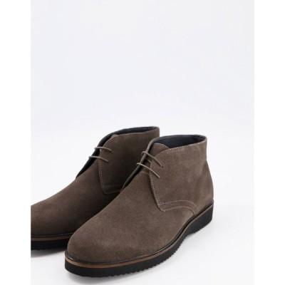 シュー Schuh メンズ ブーツ チャッカブーツ シューズ・靴 Griffin Chukka Boots In Charcoal Suede グレー