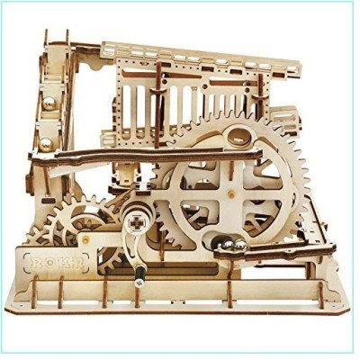 ROKR 3D Wooden Puzzle Marble Run Model Building Kits Mechanical Puzzle Toy Gifts for Adults & Teens Marble Squad【並行輸入品】