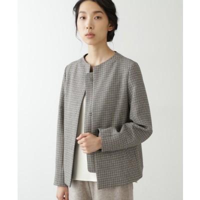 ジャケット ブルゾン ≪Japan Couture≫無染色ウールブルゾン