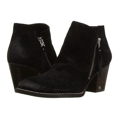 サム エデルマン Macon レディース ブーツ Black Resinato Velutto Suede Leather
