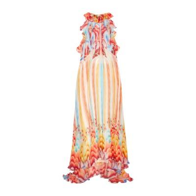 テンパリー・ロンドン TEMPERLEY LONDON ロングワンピース&ドレス レッド 10 シルク 100% ロングワンピース&ドレス