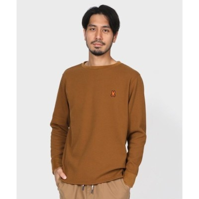 tシャツ Tシャツ サーモサーマル バックプリント スタンプロゴ ロングTシャツ