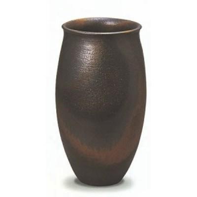 信楽焼 陶器 傘立て 和風 モダン 洋風 茶 ブラウン ベージュ 壺 金彩壷 金彩釉 A 高47cm