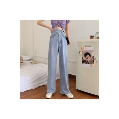 【送料無料】女性のジーンズ 荷重 秋 学生 ルース ワイドパンツ ファッション ハイ | 364331_A63690-0864905
