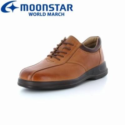BIG SALE クーポン利用可 送料無料 ムーンスター ワールドマーチ メンズ カジュアルウォーキングシューズ 靴 WM2026ST ブラウン 高機能