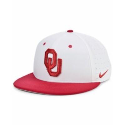 ナイキ メンズ 帽子 アクセサリー Oklahoma Sooners Aerobill True Fitted Baseball Cap White/Crimson